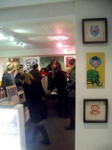 Valentine's Party crowd at art schism