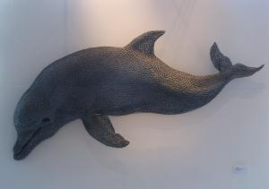 Bottlenose Dolphin by Kendra Haste - made from 'chicken wire' mesh into a beautful, soft grey form