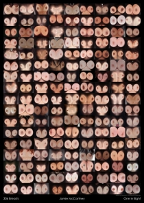 Jamie McCartney Breast Cancer Awareness Poster featuring naked breasts pressed against the glass of a digital scanner is published today, and priced at £10 for an A2 poster