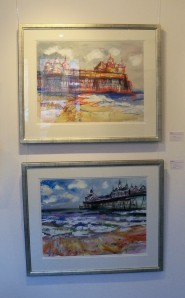 Judith Bridgland - Summer Clouds, Eastbourne Pier (above); Rough Sea, Eastbourne Pier (below)