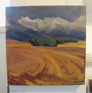 Nick Schlee - Copse Across Brown Fields at Falmer