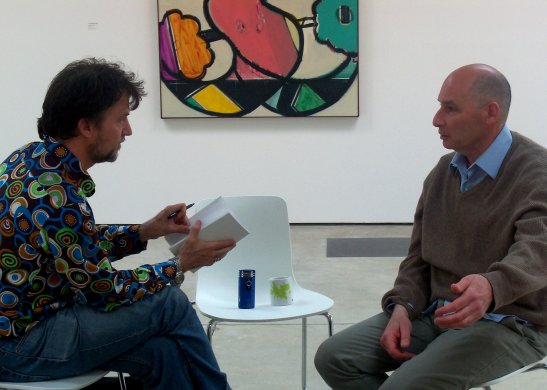 Ansel Krut (on the right) in conversation with Russell Honeyman