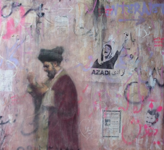 Darvish Fakhir - Mullah against pink wall 2013