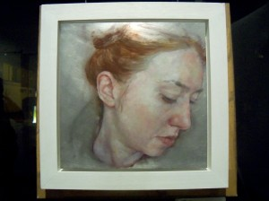 Jennifer Anderson - 'Aside' (oil on aluminium)
