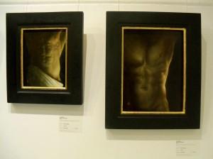 Kevin Hendley - 'Torso III' , 'Torso II' (oil on panel)