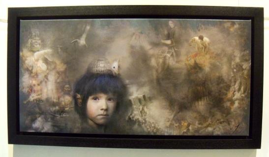 Iva Troj (hybrid print on canvas)