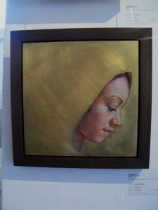 Jennifer Anderson - 'Shroud' (oil on brass)