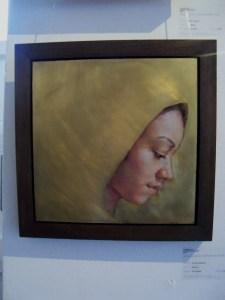 Jennifer Anderson - 'Shroud' (oil on brass)