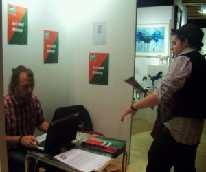 Russell Honeyman from Sussex Artbeat and Chris Spring from Art In Brighton launching Art+ Brighton's first issue