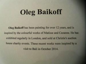 Oleg Baikoff's bio
