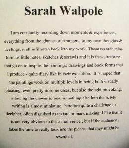 Sarah Walpole's bio