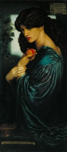 Proserpine, by Dante Gabriel Rossetti, a founder of the pre-Raphaelite brotherhood.