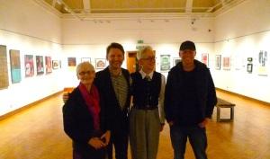 4 of SUSS6 at Worthing Museum: Sarah, Alan, Rhoda & Mark
