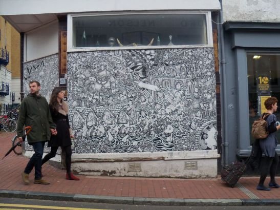 Stink like Dog - street art on Trafalgar Street, Brighton