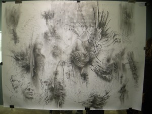 Angel worksheet 2 (graphite on paper)