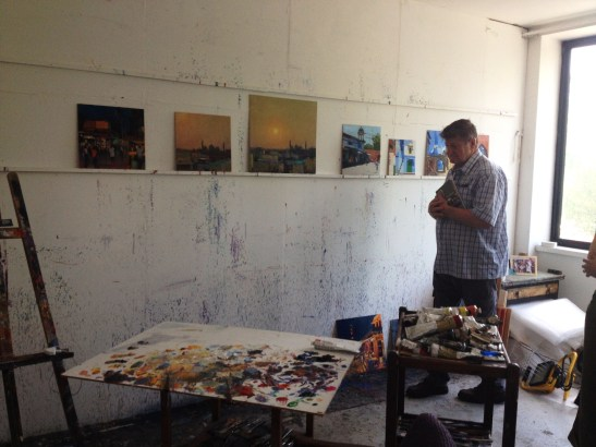 at Andrew Gifford's studio