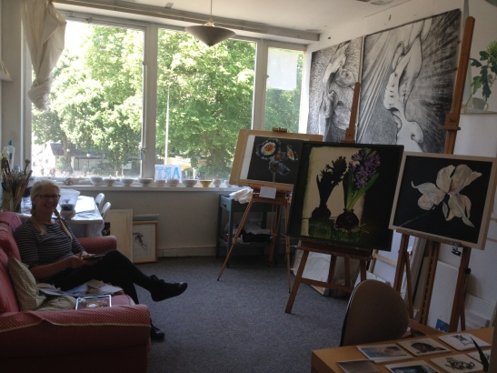 Christina Ure at her studio