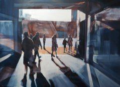 Artist: Sam Hewitt Title: The Threshold Size: 104 x 76 cm Medium: Oil and chalk on linen Price: £1600