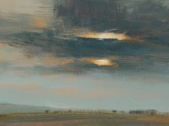 Artist: David Scott Moore Title: Moving Skies II Image Size: 29 x 22cm, Framed 51 x 44cm Medium: oil on gessoed. archival paper Price: £950
