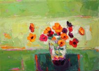 Artist: Kirsty Wither Title: Banded Together Size: 13 x 18 cm Medium: oil on canvas Price £525